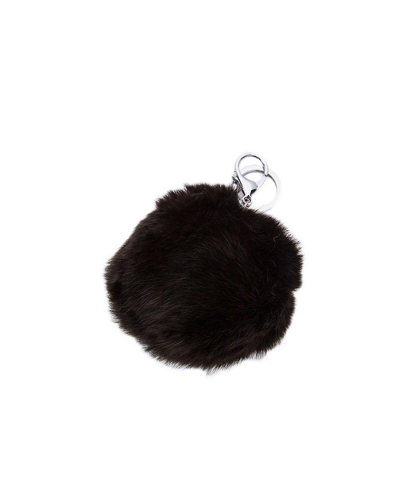 Pom Pom Rabbit Key Chain In Black