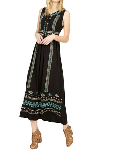 My Lace-Up Maxi In Black