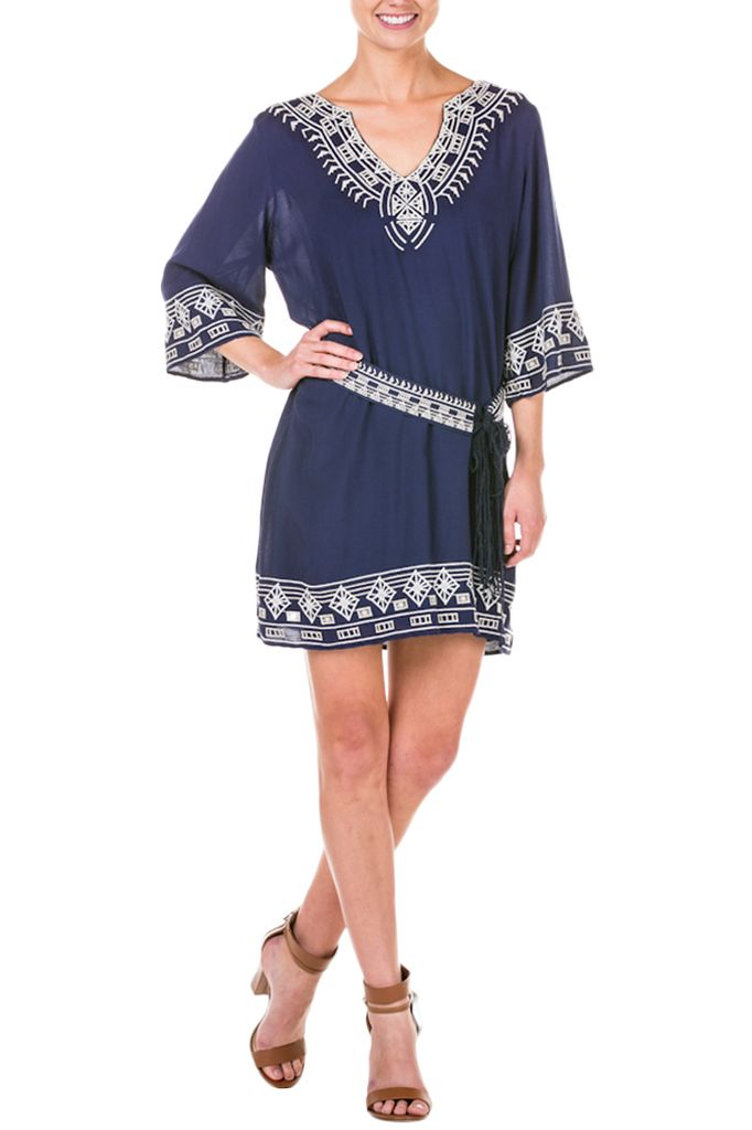 My Greek Vacation Tunic In Navy
