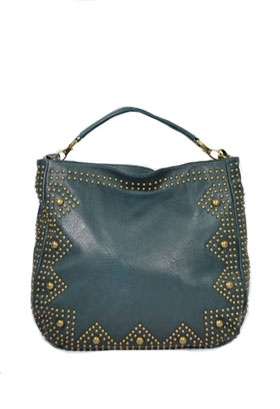 Gorgeous Teal Studded Bag