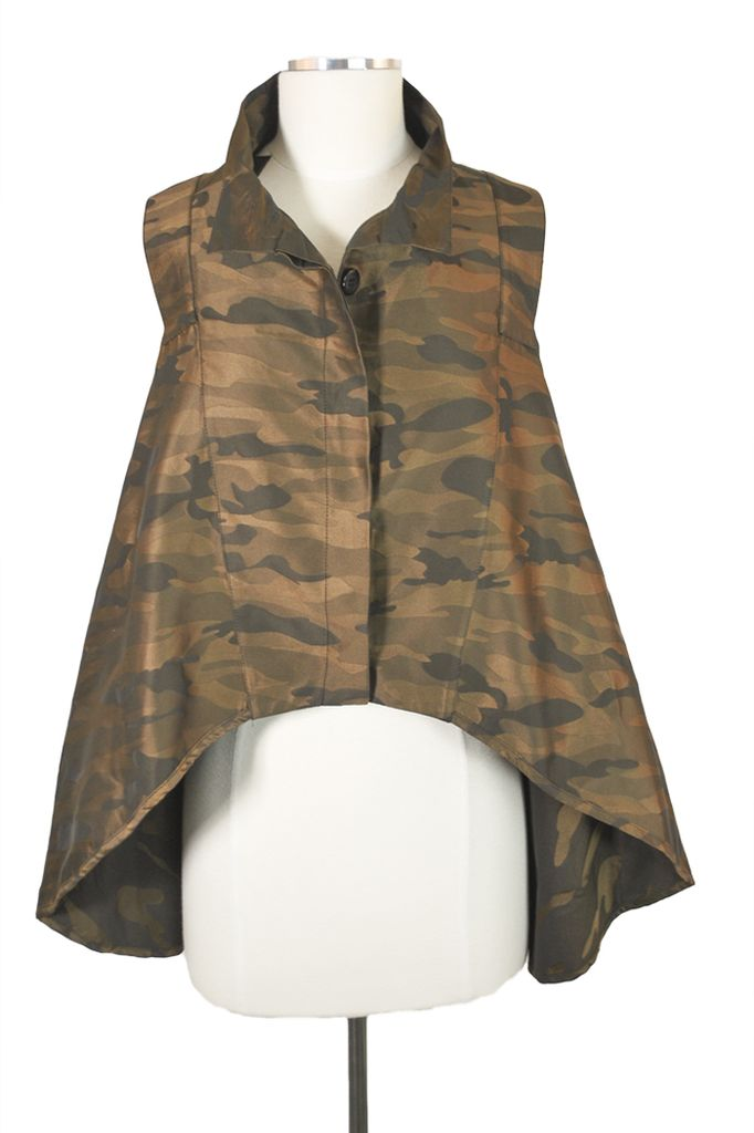 The Adrianna Vest In Camouflage