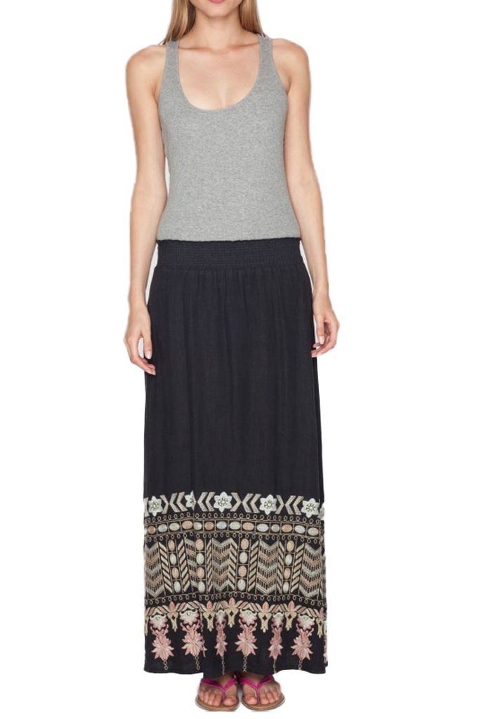 The Evan Maxi Skirt In Black