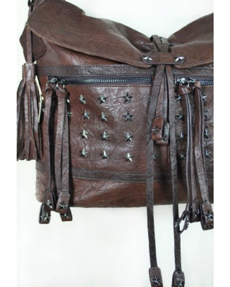 """Coffee"" Leather Handbag"