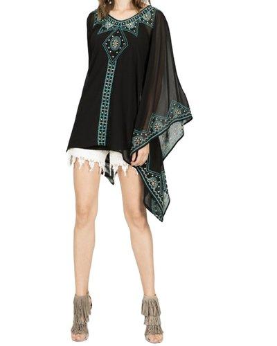 My Kimono Poncho In Black