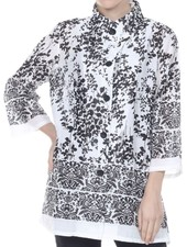 Peaceful Woman Top In Black & White