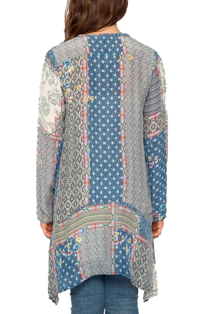 Johnny Was Patchwork Tunic In Multi Blue