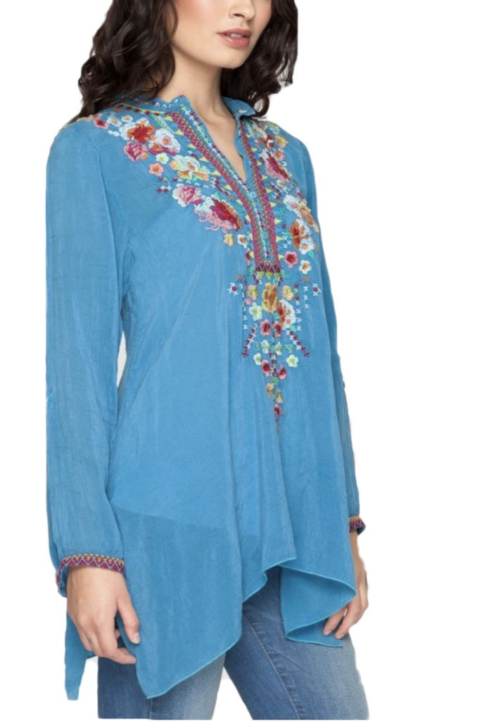 Johnny Was Sable Tunic In True Blue