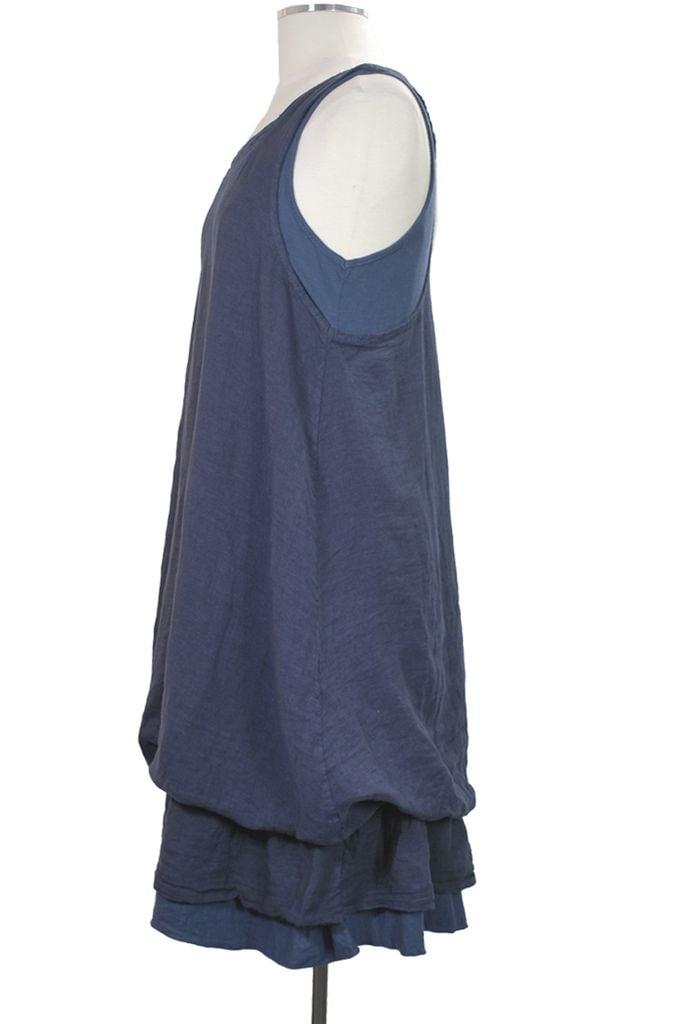 Ellamoda Double Love Dress In Blue