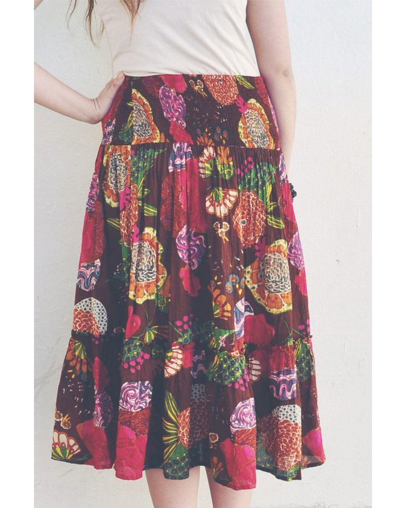 Ruffle Skirt In Exotic Print