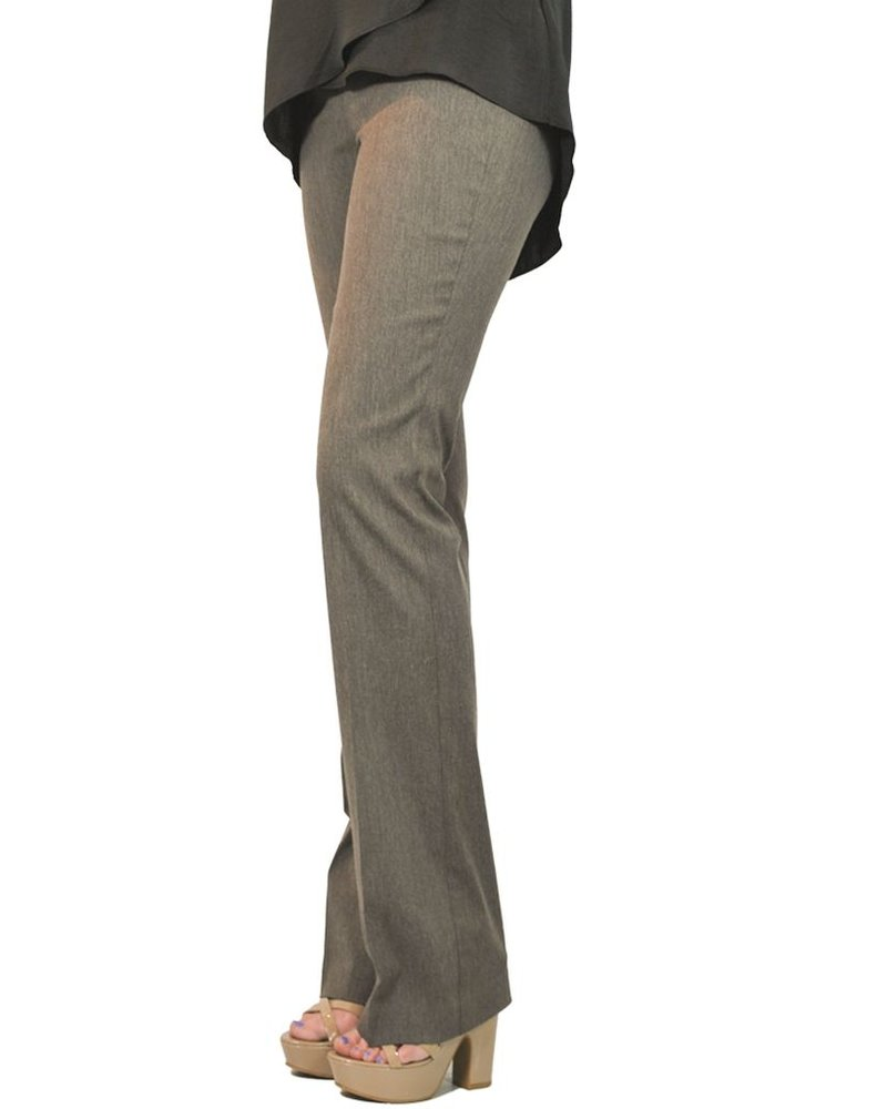 The Straight Leg Magic Pant In Heather Taupe