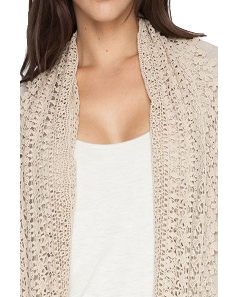 Johnny Was Antoinette Crochet Jacket In Grain
