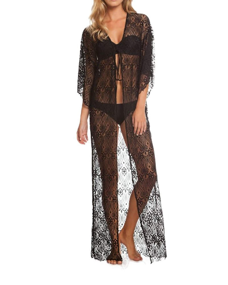Lace Duster In Black
