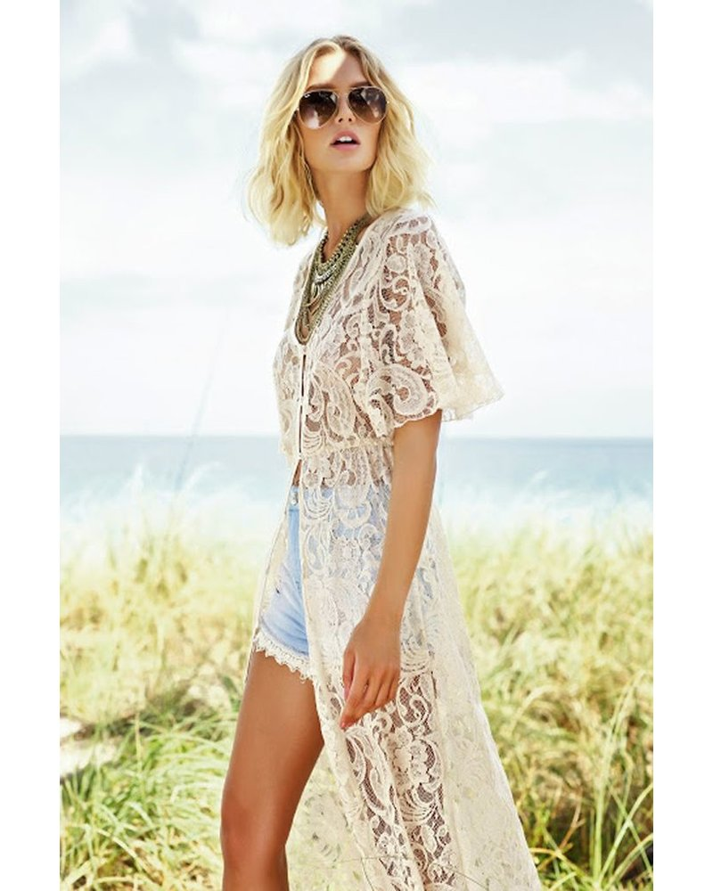 Lace Duster In Natural