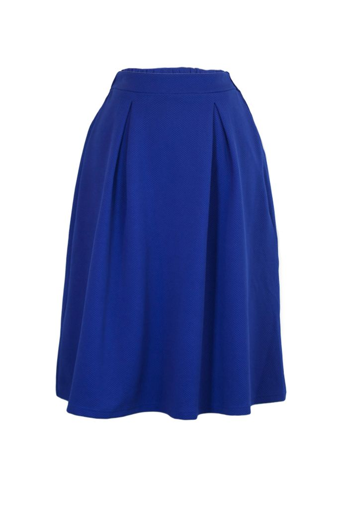 Treat Yourself Skirt In Royal Blue