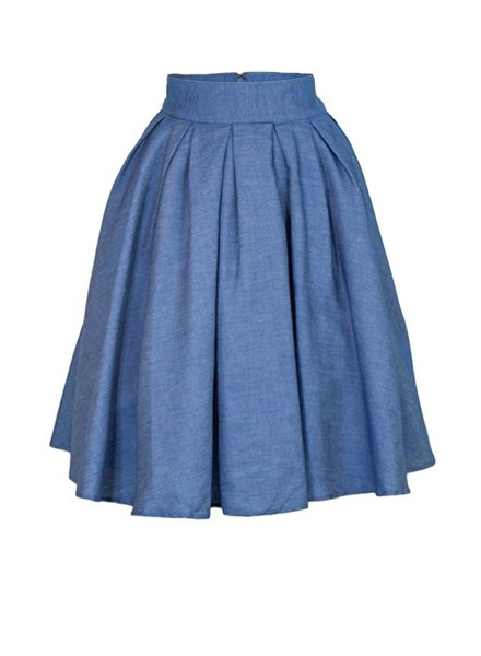 Pack A Picnic Skirt In Indigo