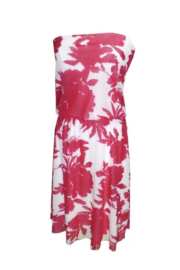 Petit Pois Strapless Dress In Catalina