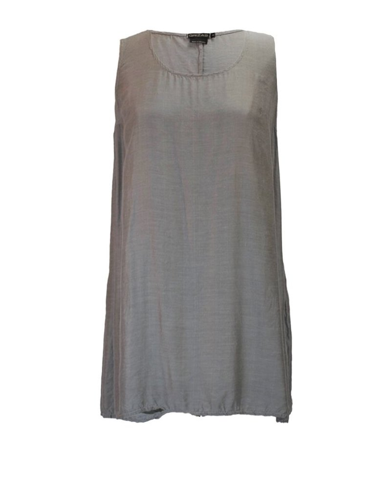 Griza's Silk Bamboo Tank In Grey