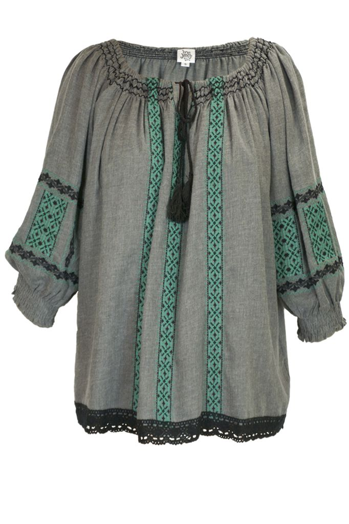 Uncle Frank's Embroidered Peasant Top