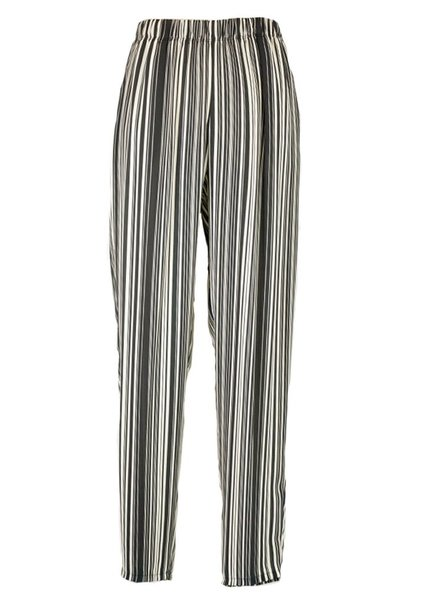 Comfy's Slim Crepe Pant In Stripe
