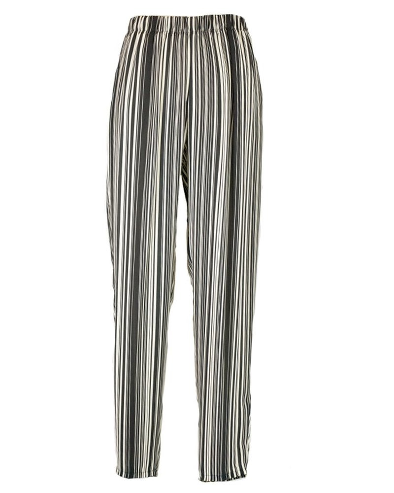 Comfy's Slim Crepe Pant In Stripe