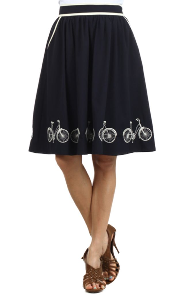 The Bicycle Skirt In Navy