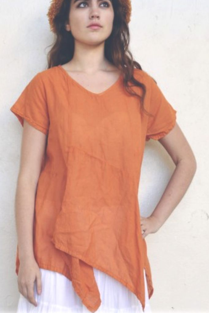 The Cascade Tunic In Apricot
