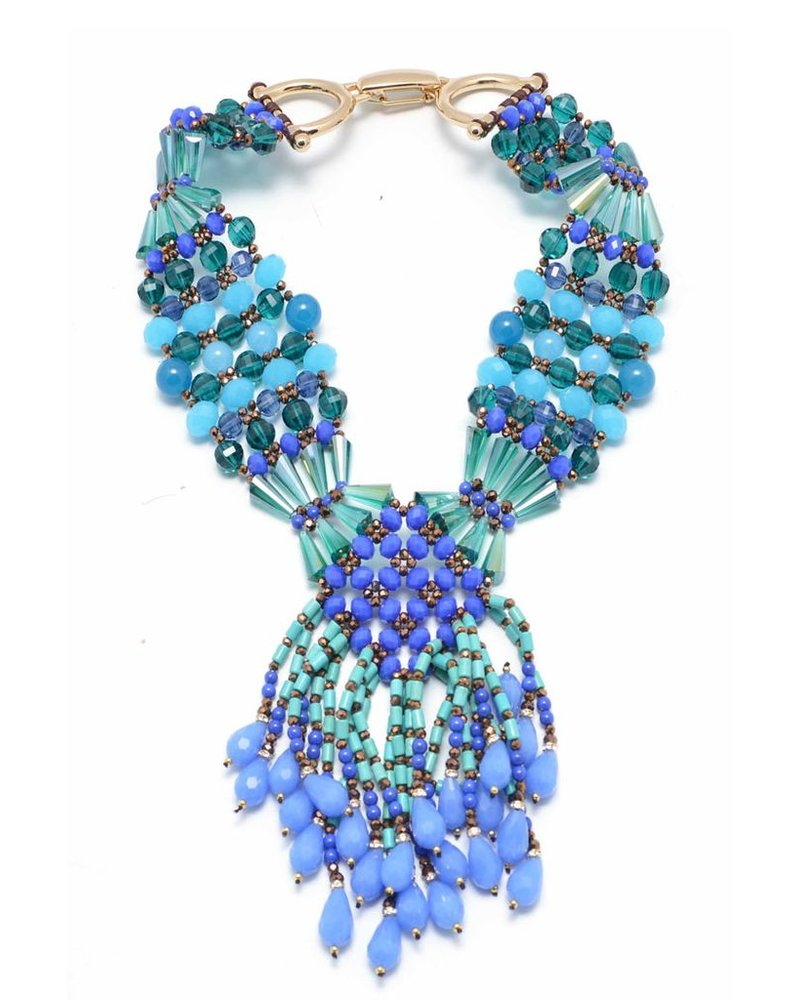 Let It Bead Necklace In Blue