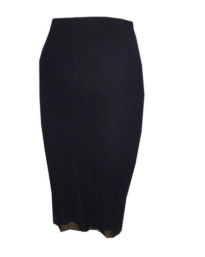 Petit Pois Straight Mesh Skirt In Black