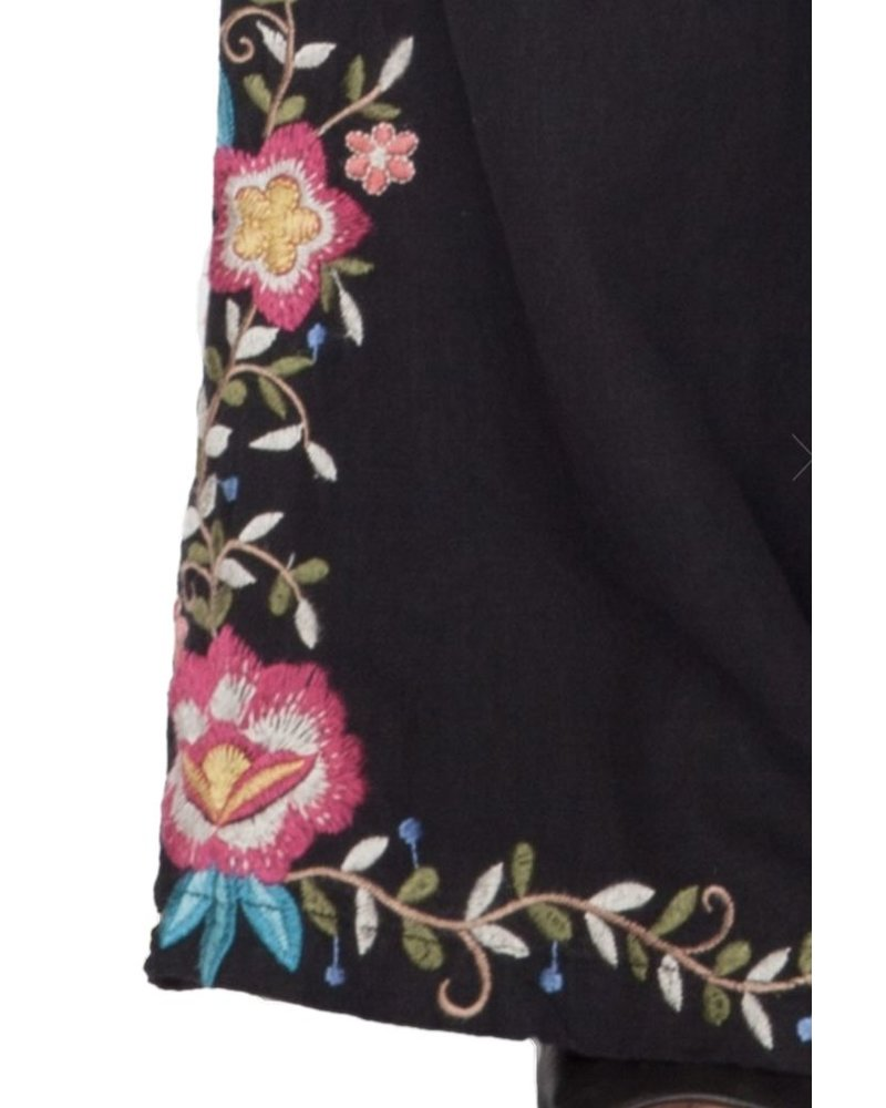 Johnny Was Tuscany Wide Palazzo Pants In Black