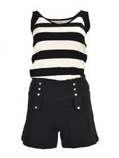 The Paris Top In Black & Cream Stripe