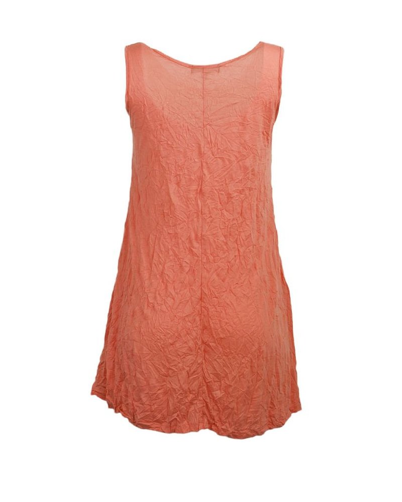 Comfy Crinkle Tunic Tank In Sienna