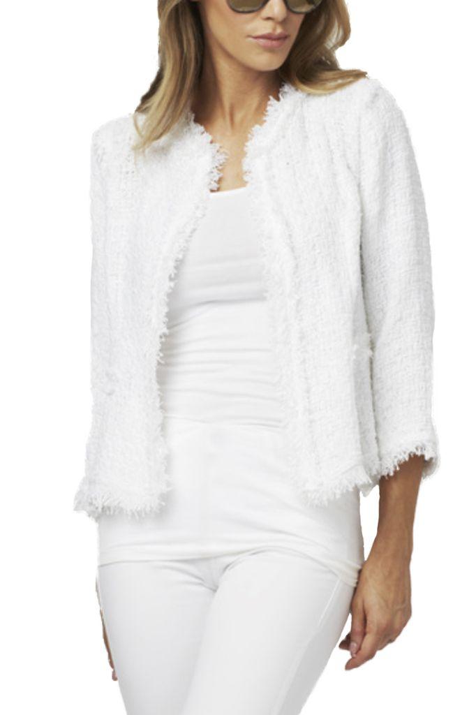 Knit Jacket In White