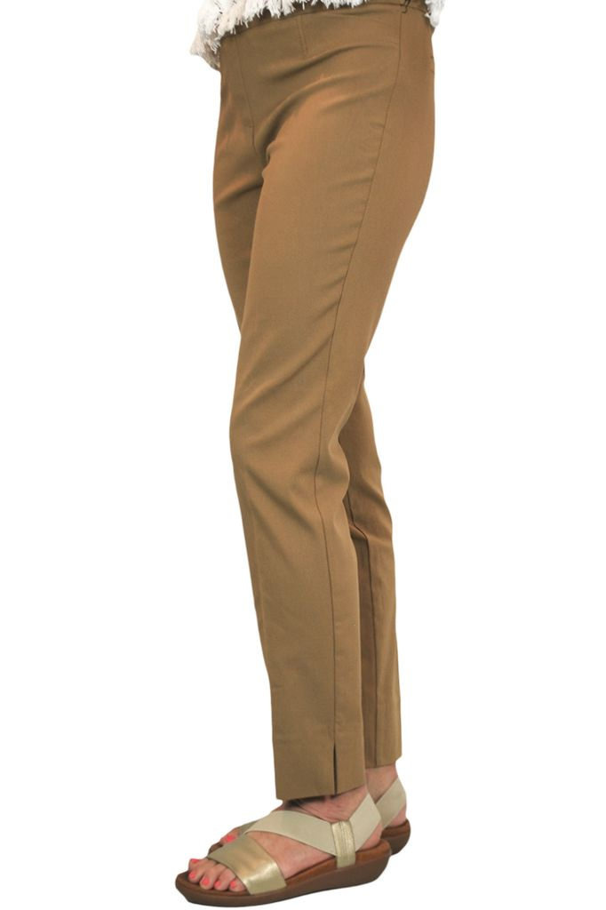 The Ankle Cigarette Magic Pant In Cognac