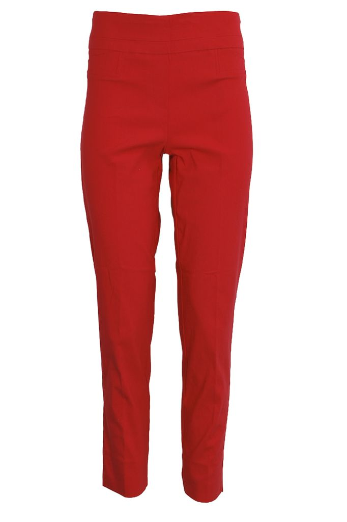 The Ankle Cigarette Magic Pant In Cardinal