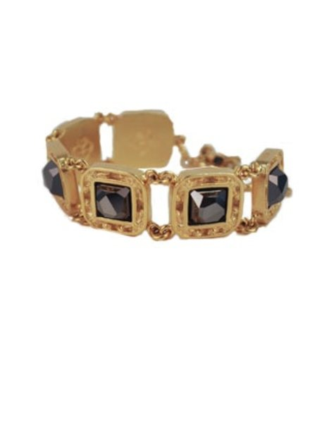 VSA Designs Virgins, Saints & Angels Treasure Bracelet In Hematite & Gold