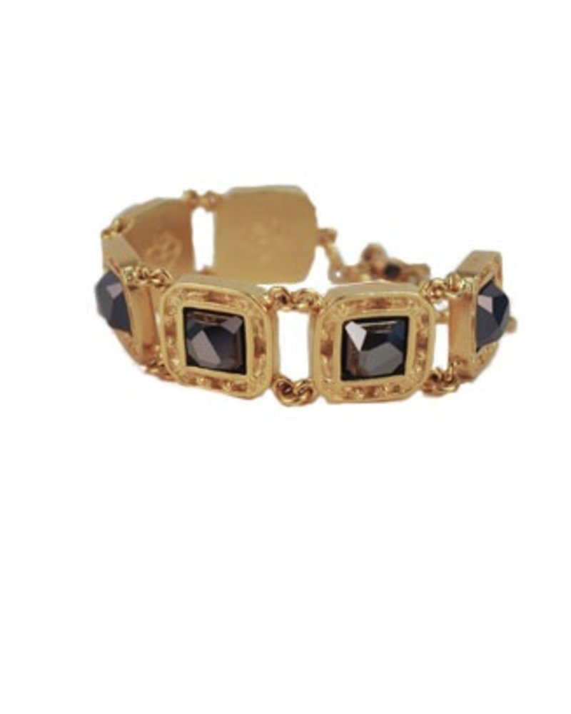 Virgins, Saints & Angels Treasure Bracelet In Hematite & Gold