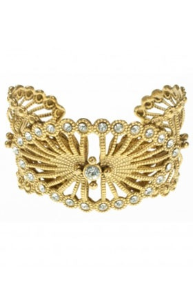 Queen Of The Night Cuff In Gold and Clear