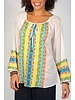 Aztec Embroidered Cotton Top