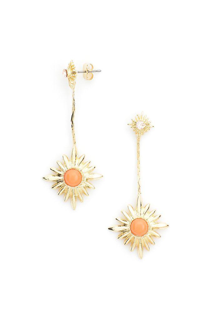 Starry Night Earrings In Coral