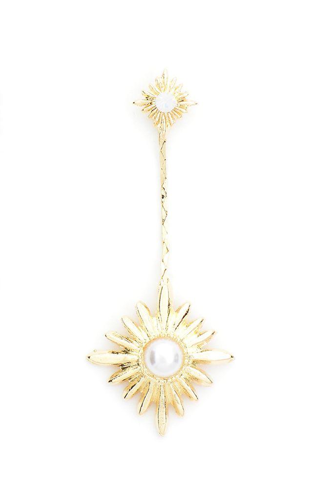 Starry Night Earrings In White