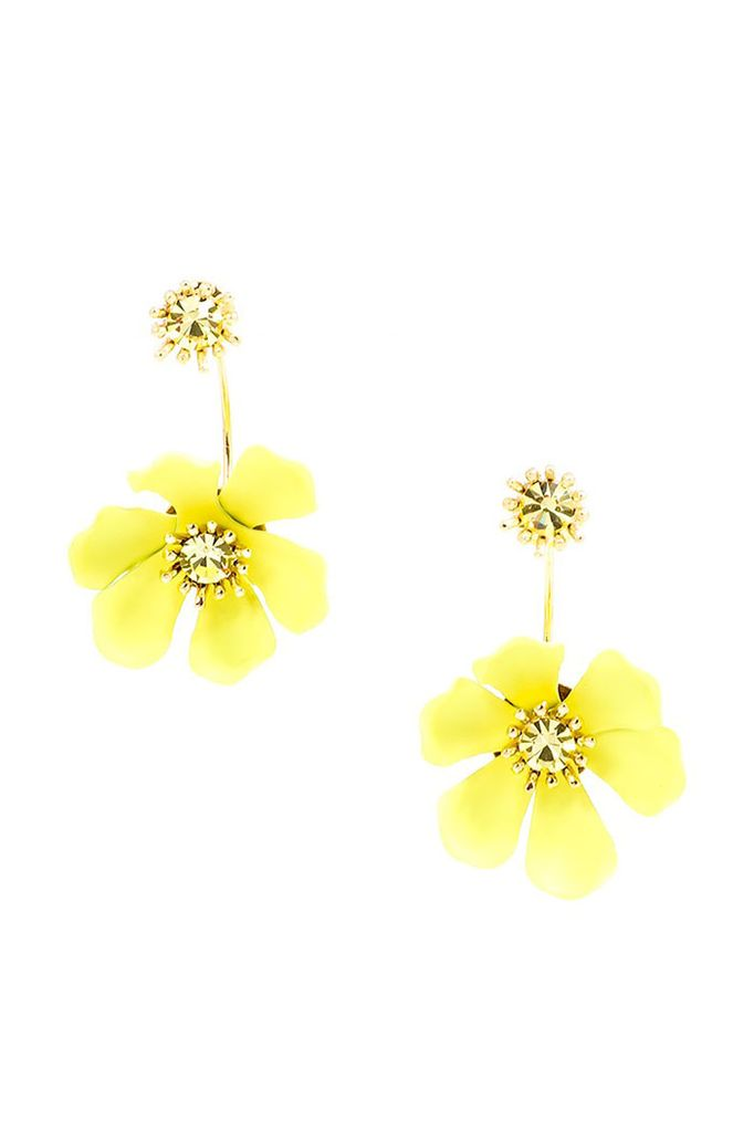 Garden Party Floating Earrings In Yellow