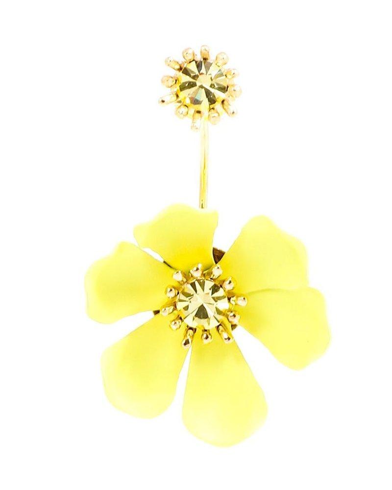 Garden Party Floating Earrings In Yellow