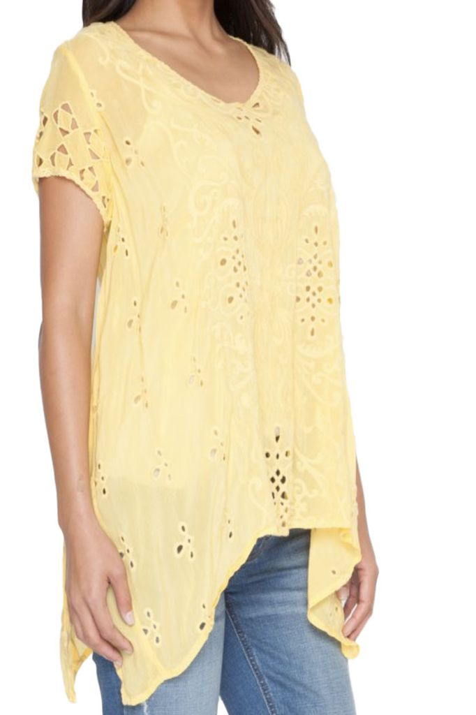 Johnny Was Wicktoria Tunic In Citron