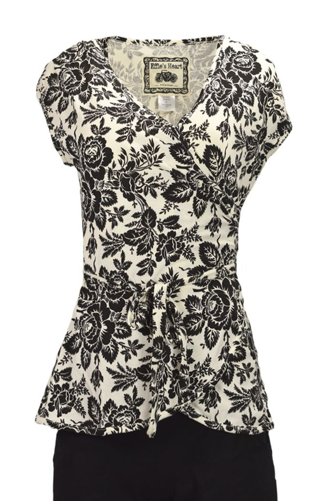 The Boutique Blouse In Giverny Roses