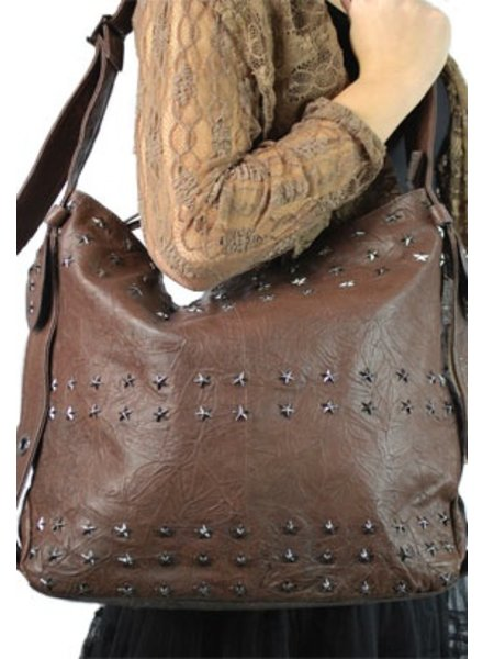 """Cowboy Coffee"" Leather Handbag"