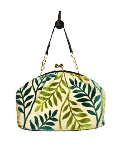 """Glenda Gies Designer Handbag """"Roxann"""" Leaves"""
