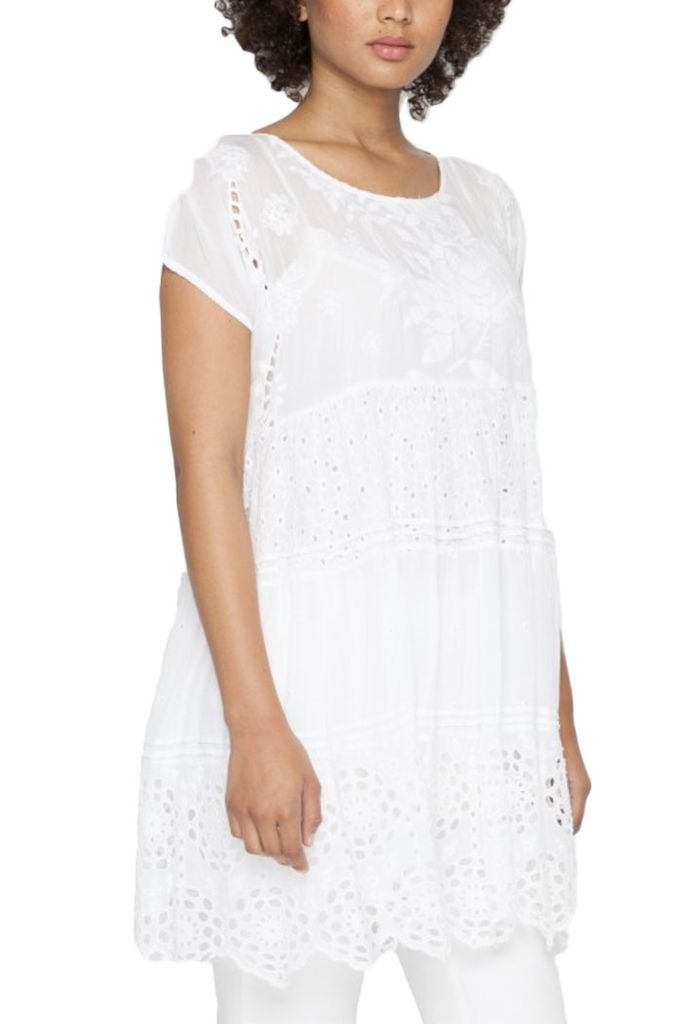 Johnny Was Arva Tiered Tunic Dress
