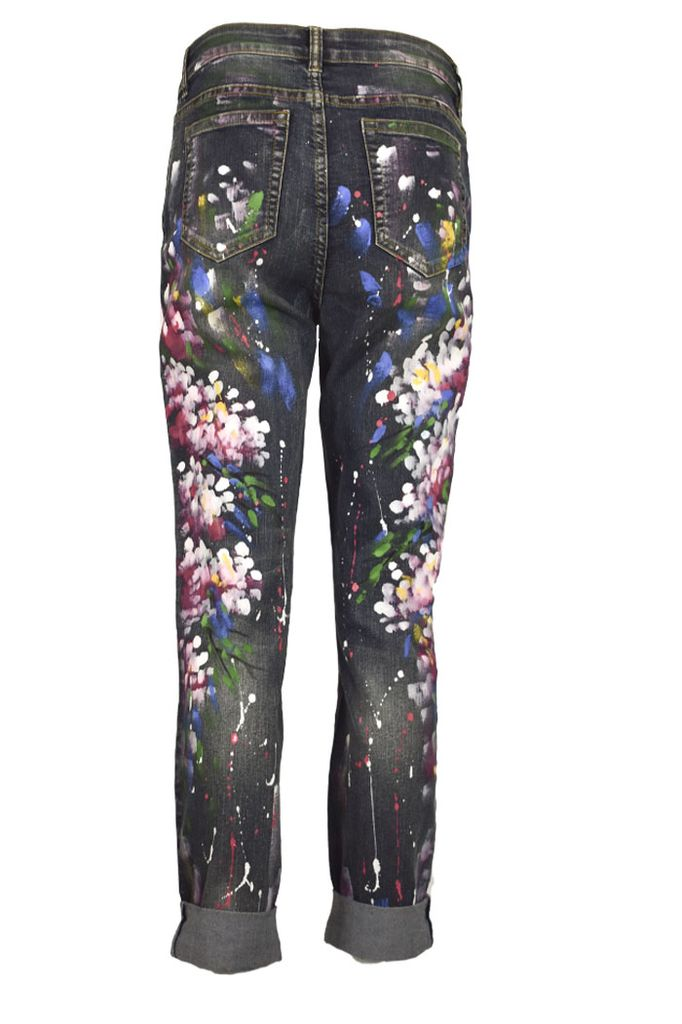 Hand Painted Stretch Jeans