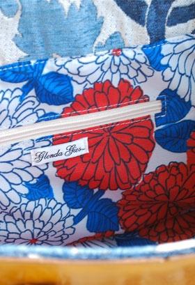 Glenda Gies Designer Handbag The Gigi In Indigo Blue Mosaic