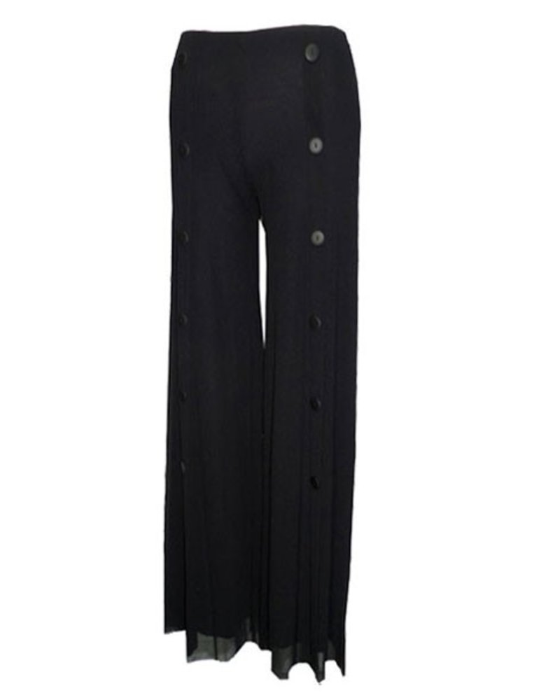 Petit Pois Palazzo Sailor Pant In Black